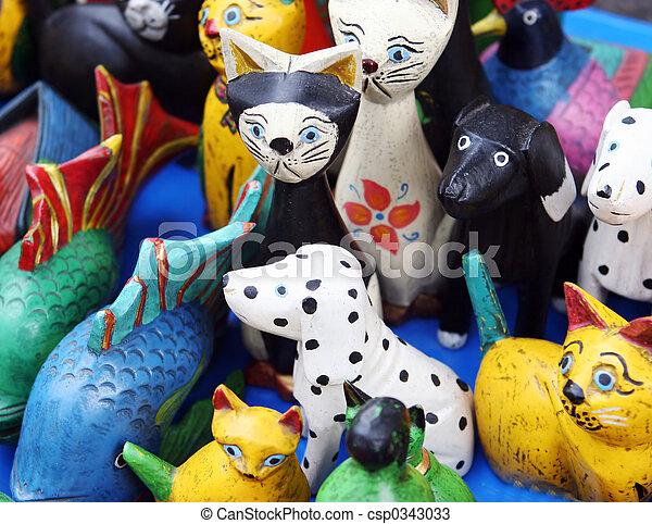 Wooden animal toys - csp0343033