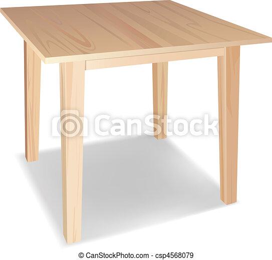 wooden asztal - csp4568079