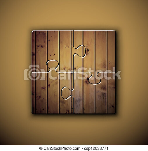 Wooden background on puzzle - csp12033771