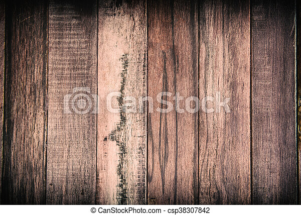 wooden background - square format old, grunge wood - csp38307842
