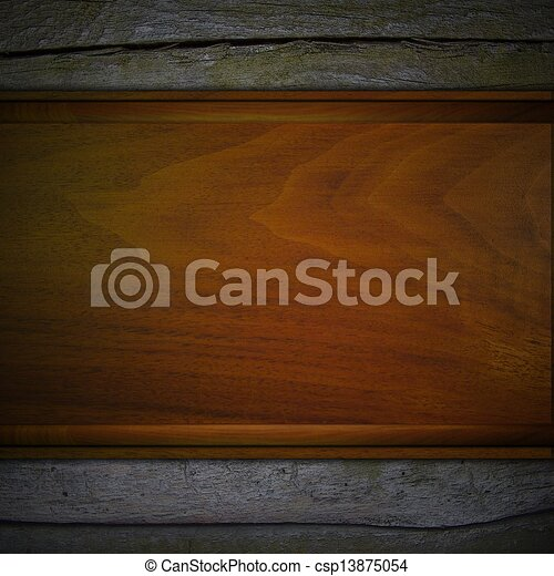 Wooden background with wooden template. design template.