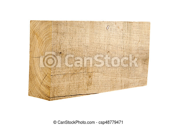 Wooden bar isolated on white background - csp48779471