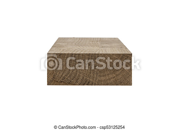 wooden bar isolated on white background - csp53125254