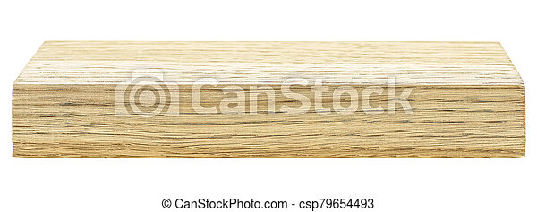 Wooden bar isolated on white background - csp79654493