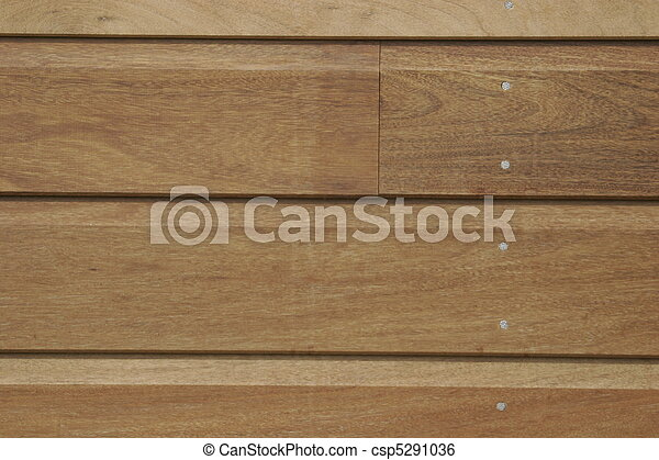 Wooden bardage on a new house - csp5291036