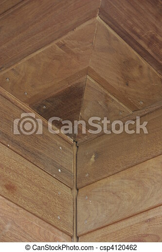 Wooden bardage on a new house - csp4120462
