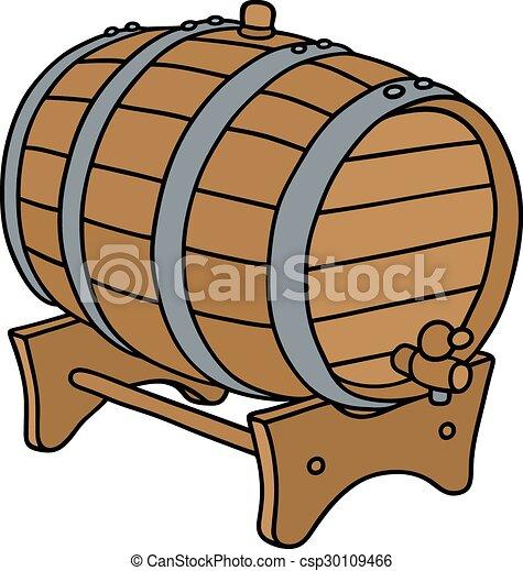 Wooden barrel - csp30109466