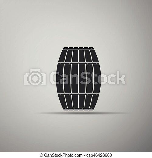 Wooden barrel. - csp46428660