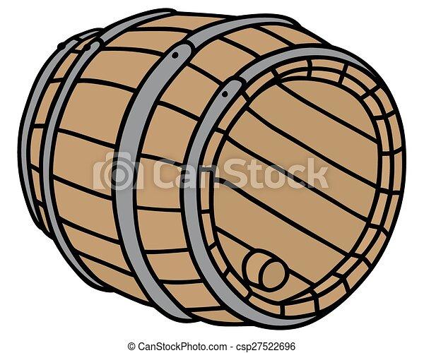 Wooden barrel - csp27522696