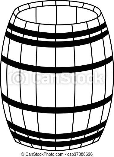 Wooden barrel - csp37388636