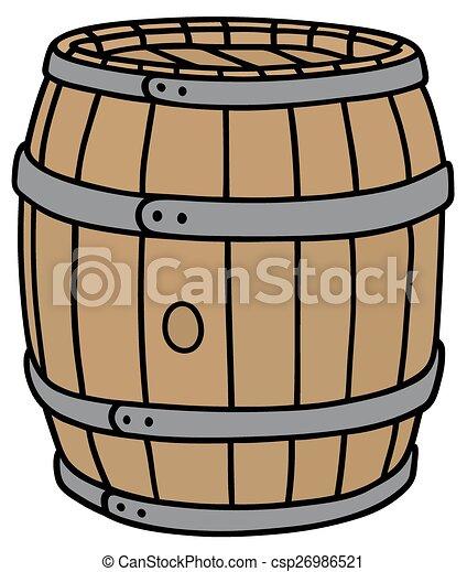 Wooden barrel - csp26986521