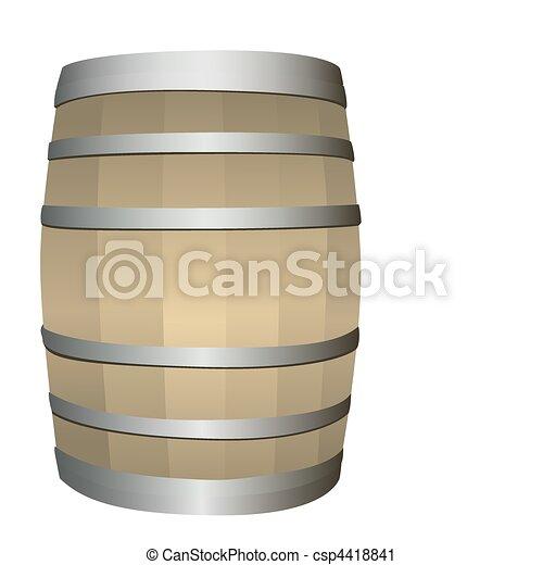 wooden barrel - csp4418841