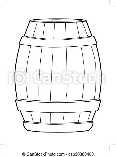 wooden barrel - csp30380400
