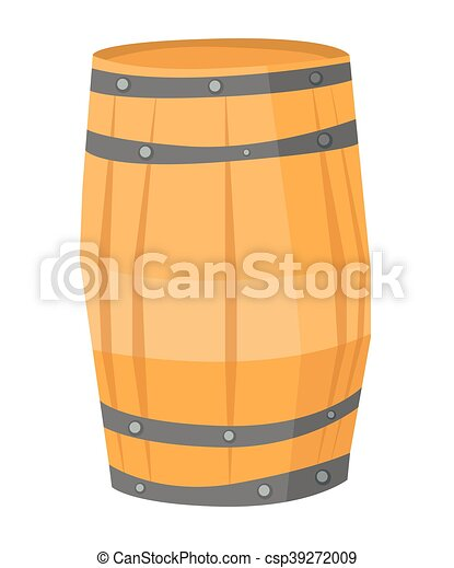 Wooden barrel vector illustration. - csp39272009