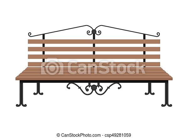 wooden bench isolated on white background city park bench with rh canstockphoto com park bench clipart