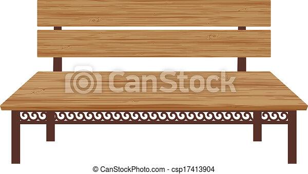Wooden bench.