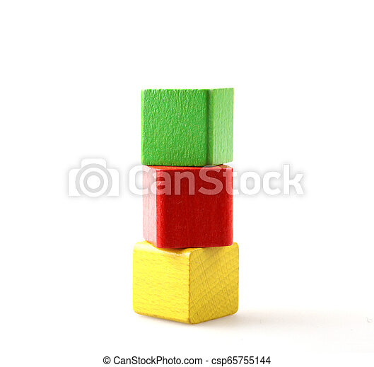 Wooden Blocks On White - csp65755144