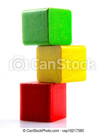 Wooden Blocks - csp16217380
