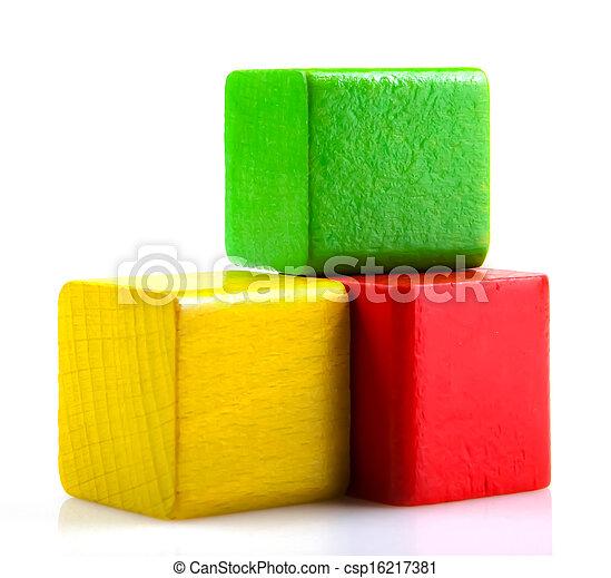 Wooden Blocks - csp16217381
