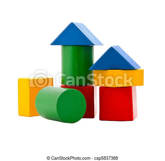 Wooden blocks - csp5837388