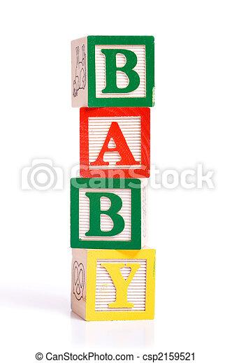 """Wooden Blocks spelling """"baby"""" - csp2159521"""