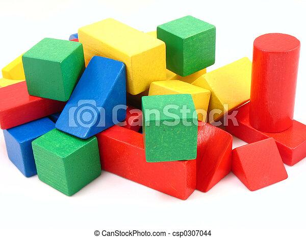 wooden blocks - csp0307044