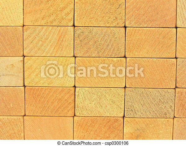 wooden blocks wall 2 - csp0300106