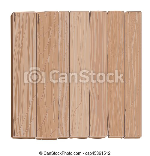 Wooden Board Cartoon