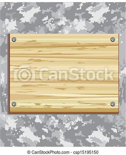 wooden board - csp15195150