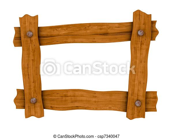 wooden board frame - csp7340047
