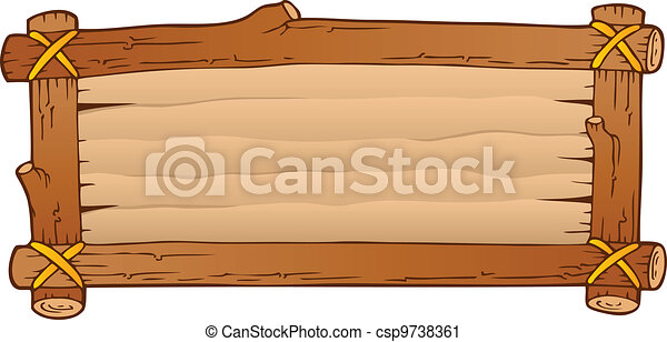 Wooden board theme image 1 - csp9738361