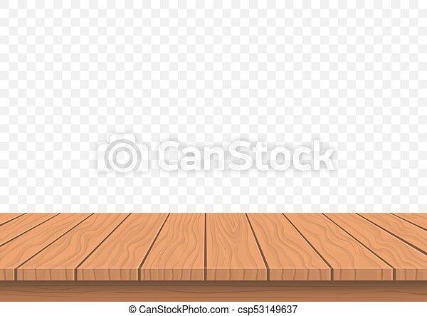 Wooden Board Top On Transparent Background Wooden Presentation