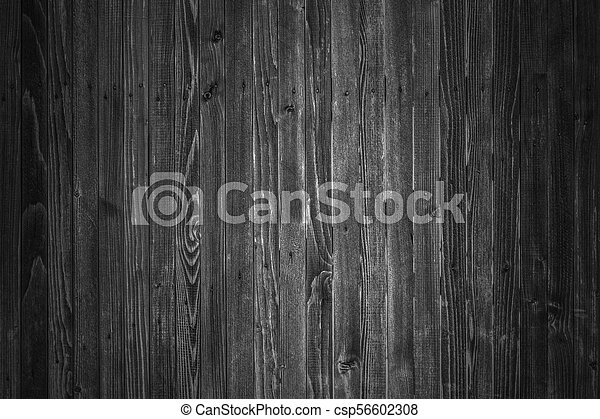 Wooden boards background in black and white - csp56602308