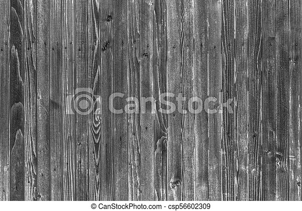 Wooden boards background in black and white - csp56602309