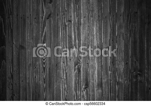 Wooden boards background in black and white - csp56602334