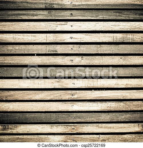 Wooden boards background, old grunge wood - csp25722169