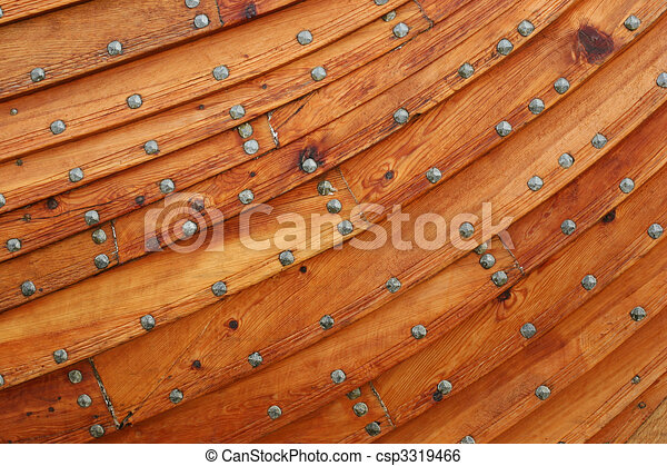 Wooden Boat Background Close Up Of A Viking Ship Stock Illustration
