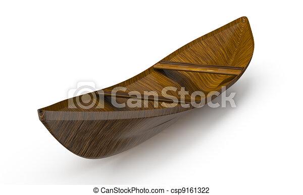 Wooden Boat Stock Illustration