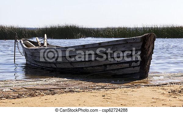 wooden boat - csp62724288