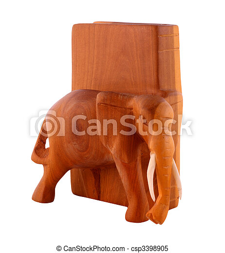 Wooden bookend - csp3398905