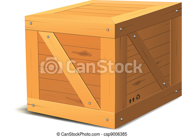wooden box clipart. wooden box csp9006385 clipart o