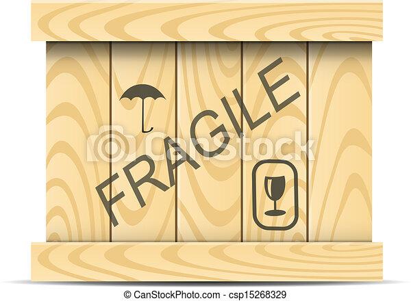 wooden box clipart. vector wooden box clipart