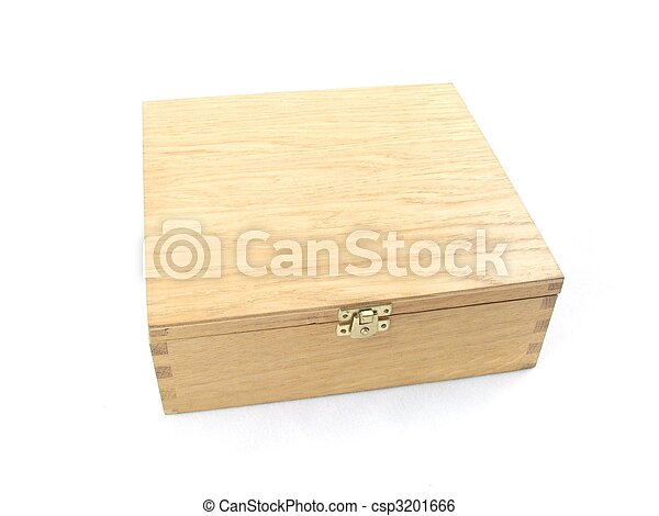 wooden box isolated - csp3201666