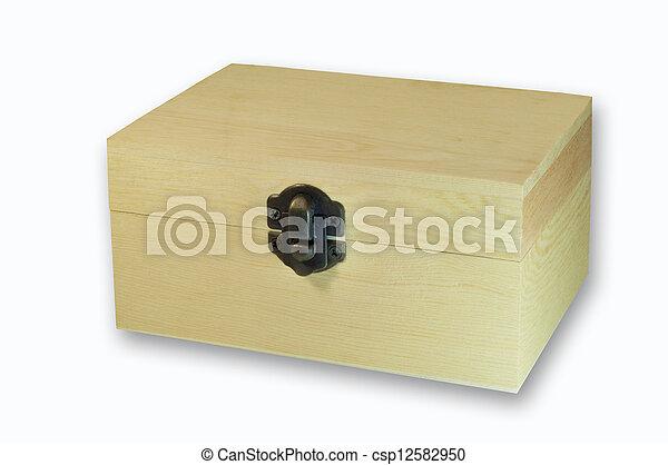 wooden box - csp12582950
