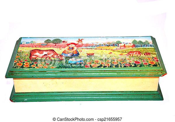 Wooden Box - csp21655957