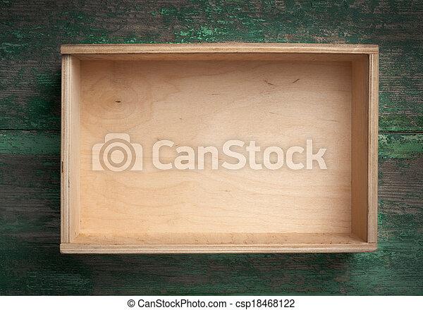wooden box - csp18468122