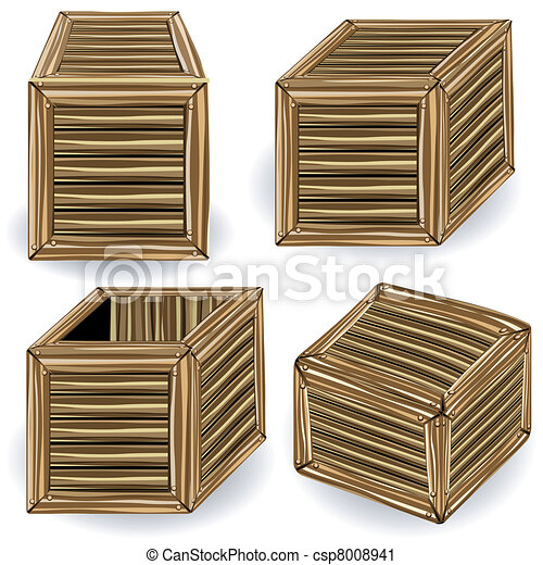 wooden box clipart. vector wooden boxes box clipart