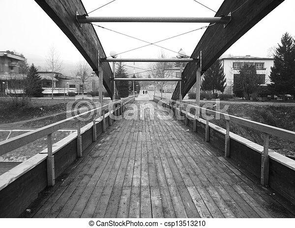 Wooden bridge - csp13513210