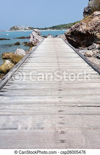 wooden bridge - csp26005476
