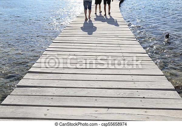 Wooden bridge - csp55658974